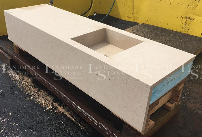 French-Limestone-Slab-Sink