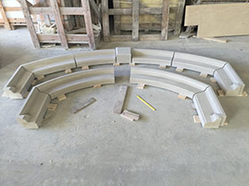 Arch Pieces before Assembly