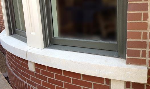 Curved Crema D'Oro Window Sill