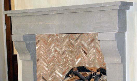 Pietra Serena Fireplace