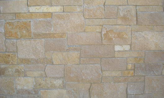 Straw Buff Shell Thin Limestone Veneer